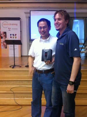 Andy with Motorola Product Manager Jinnan Sun