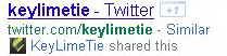 Google currently highlights who in your social network has previously tweeted a link that appears in a search result.