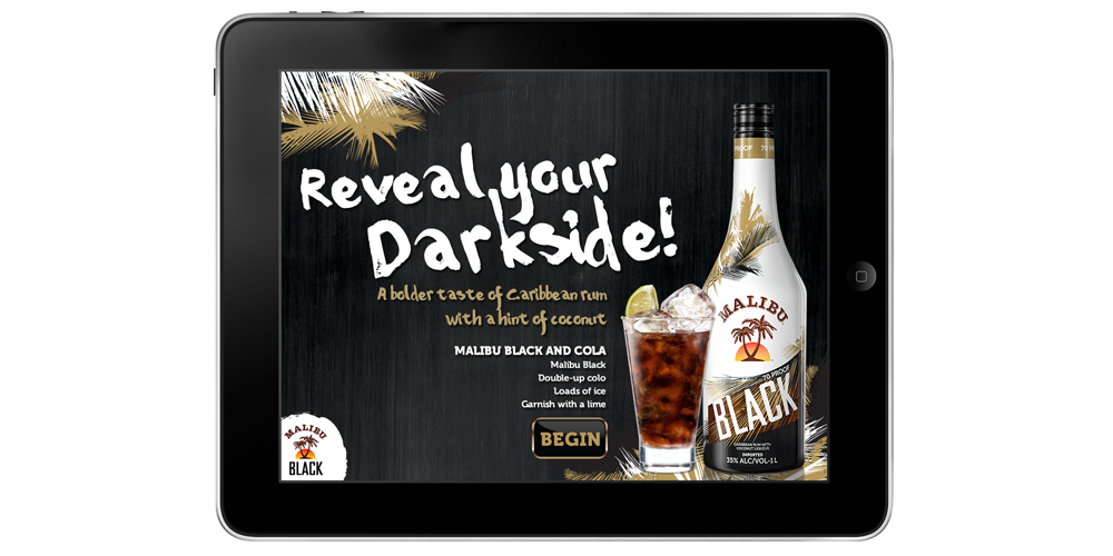 Malibu Rum - Reveal Your Darkside App